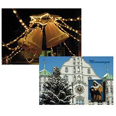Postkarte Weihnachten in Memmingen